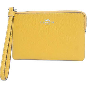 Coach Crossgrain Leather Zip Wristlet Wallet
